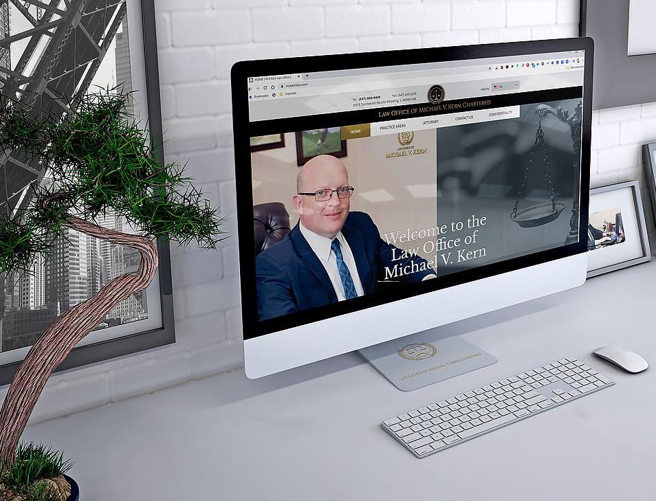 Website for law office M.V.Kern