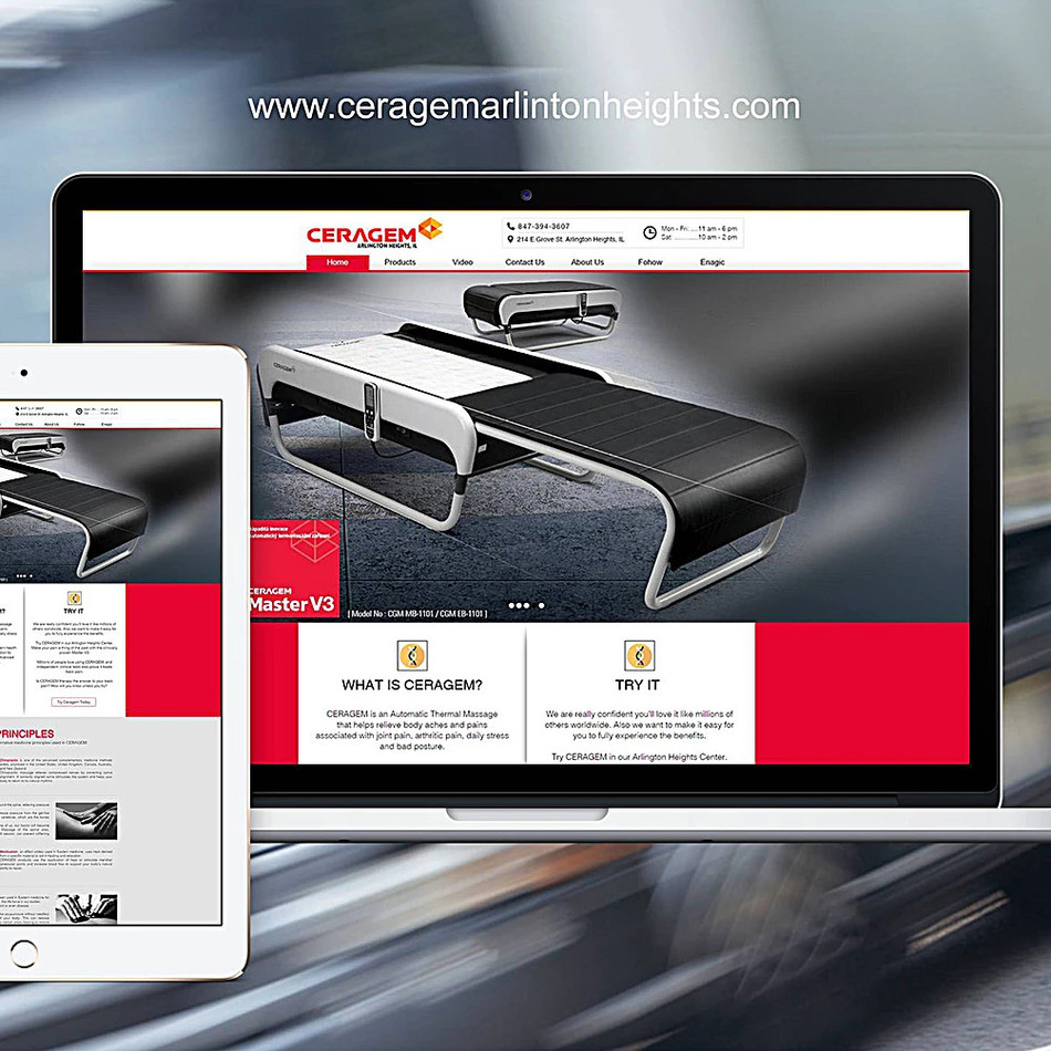 CERAGEM product medical center website