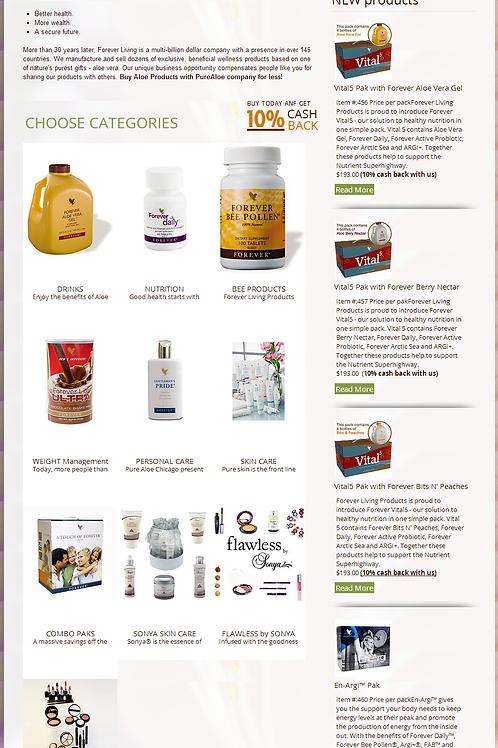 Health product online store website