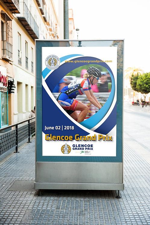 Bike racing street poster