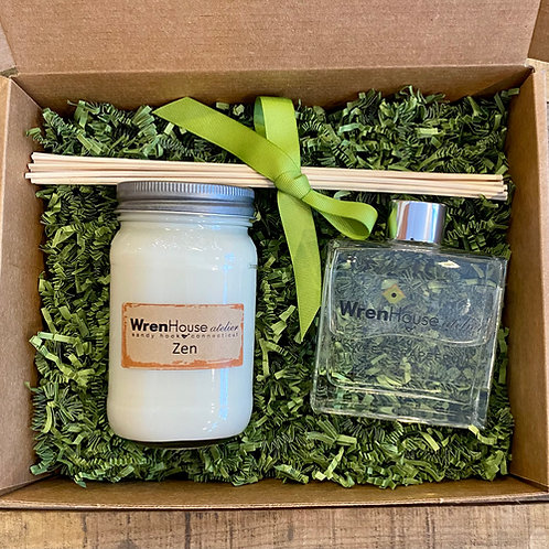 Large Diffuser and Candle Gift Box