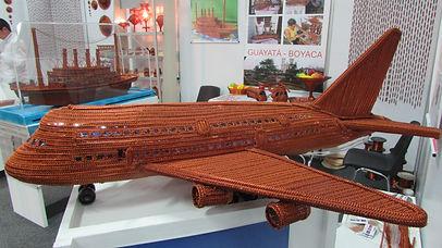 artesanias en cobre - Air Bus A-380 en alambre de cobre esmaltado