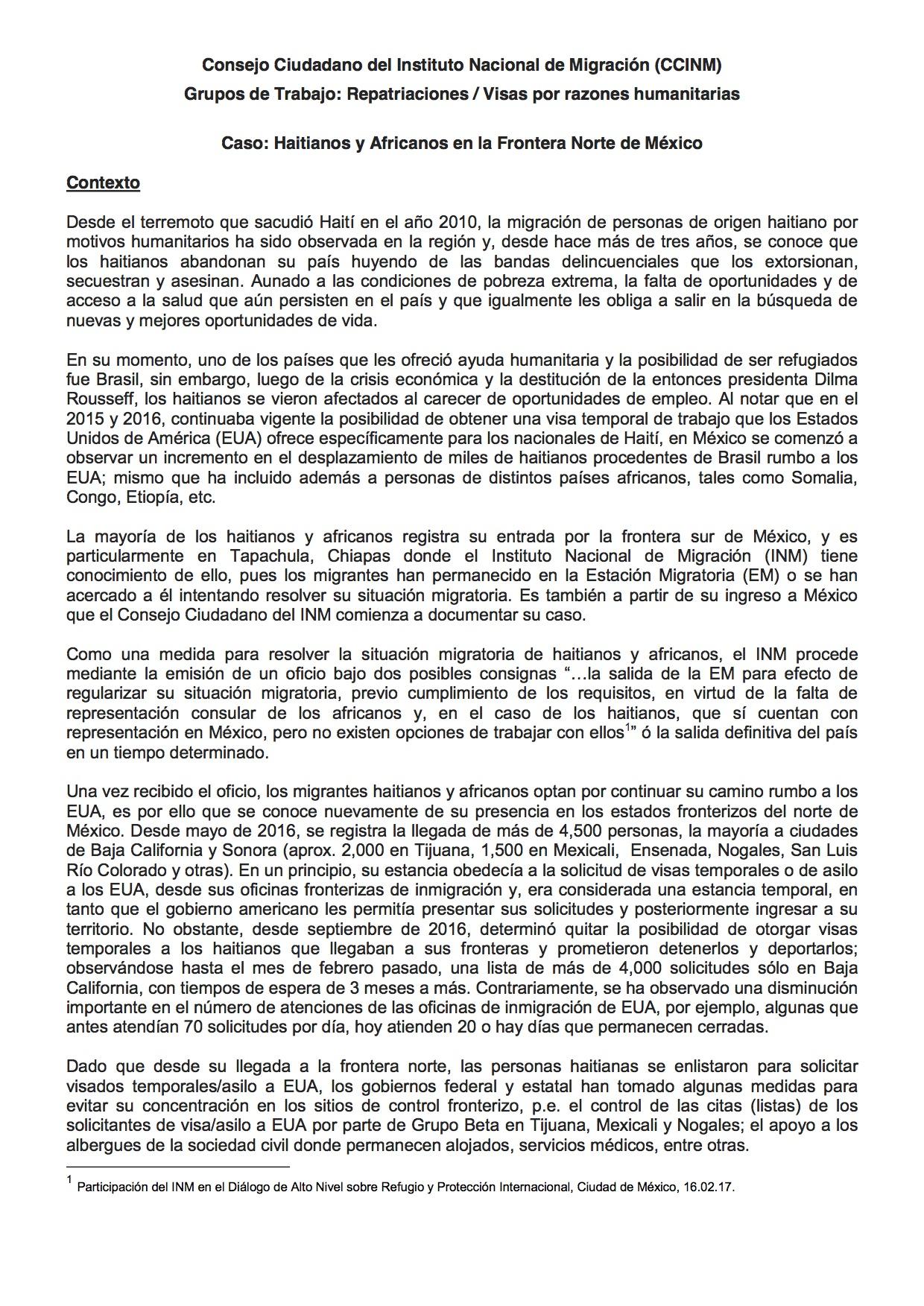 Informe Caso Haitianos y Africanos (1)