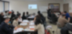 公民館ビジネスセミナー「人前で話す」の講座風景