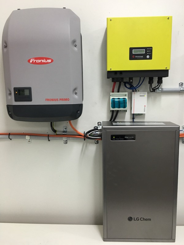 Battery Storage System using Goodwe Battery Charger, LG Chem Battery and Fronius Primo Inverter.