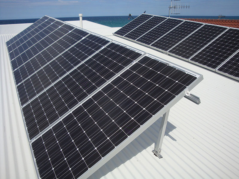 Solar Panels mounted on Tilt Frames