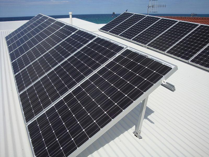 Solar Panels mounted on Tilt Frames