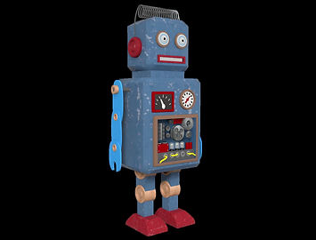 Robot 360 diseñado en Cinema4D