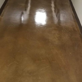 Concrete floors cleaned after