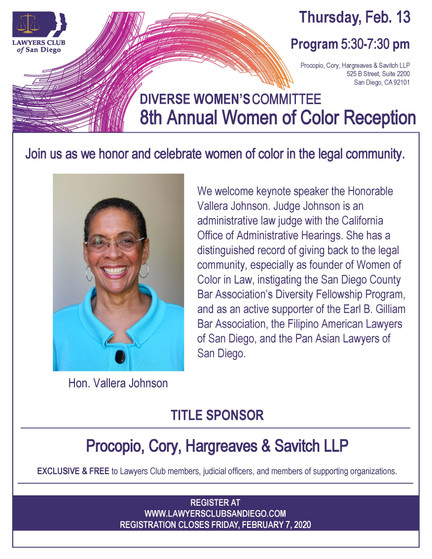 Diverse Women's Committee 8th Annual Women of Color Reception