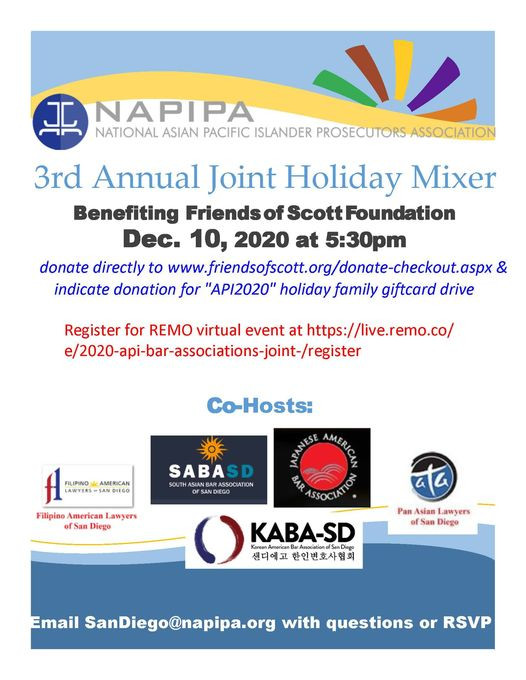 Joint Holiday Mixer Benefiting Friends of Scott Foundation