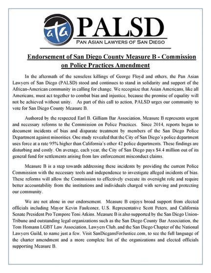 Measure B: PALSD Endorsement
