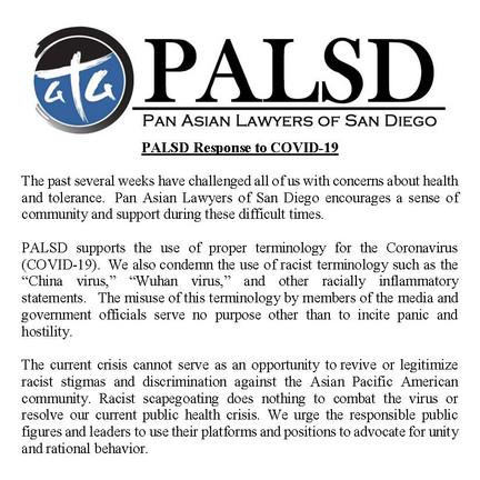 PALSD Response to COVID-19