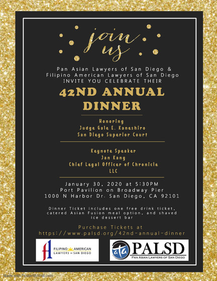PALSD & Filipino American Lawyers of SD 42nd Annual Dinner