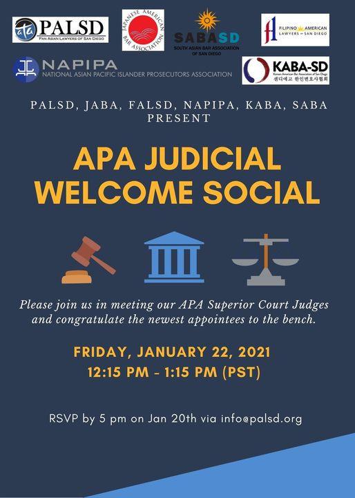 APA Judicial Welcome Social - Jan. 22