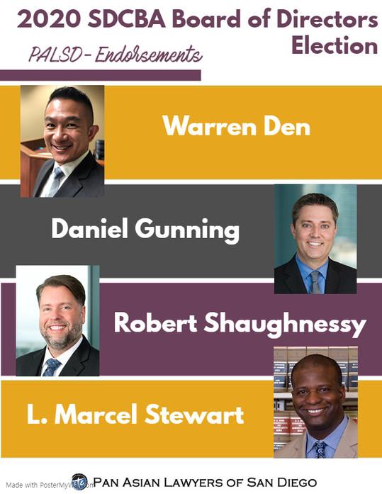 2020 SDCBA Board of Directors Election: PALSD Endorsements
