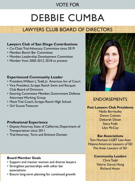 Lawyers Club Board of Directors Candidate: Debbie Cumba