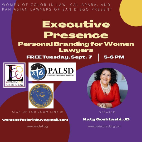 Executive Presence - Personal Branding for Women Lawyers