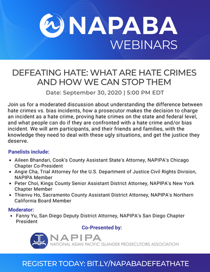 NAPABA presents: Defeating Hate: What Are Hate Crimes and How We Can Stop Them