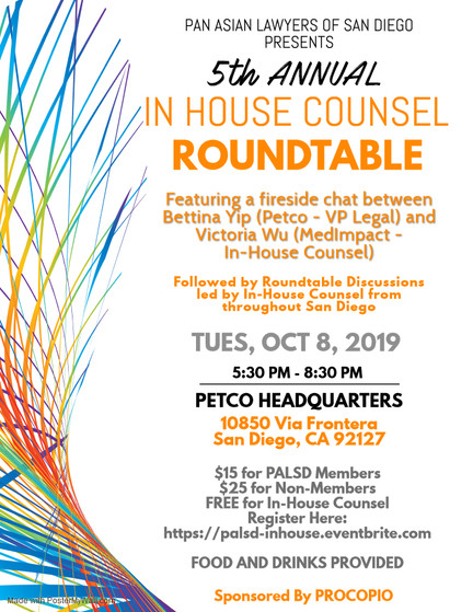 PALSD 5th Annual In House Counsel Roundtable