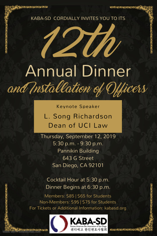KABA-SD 12th Annual Dinner & Installation of Officers
