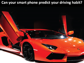 Can your smart phone predict your driving habit?