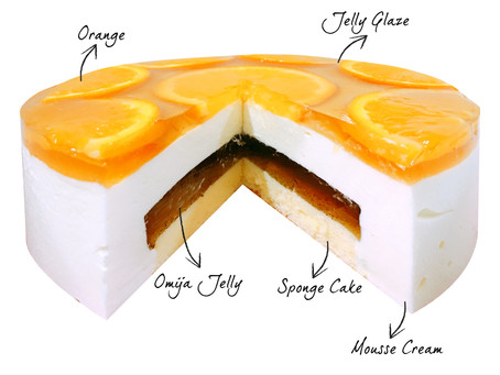 Jeju Omija Honey Jelly Mousse Cake
