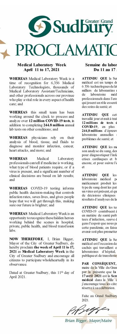 Medical Laboratory Week revised - Mayor