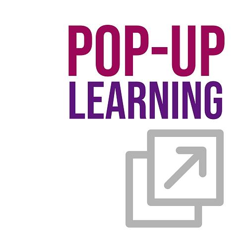 Non-Member: Pop-Up Learning - Saturday, November 21 - 10 AM