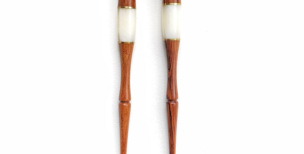 Resin & Brass Calligraphy Pen
