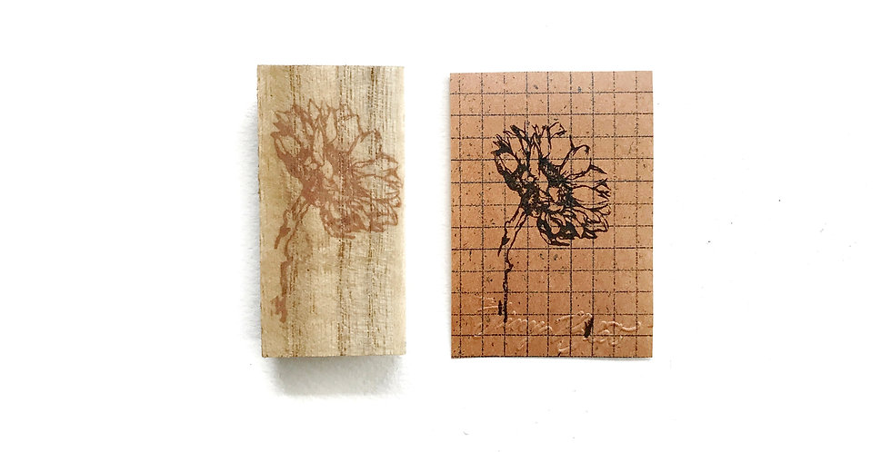 The Tiny Blot  Rubber Stamp Series 1: Sunflower