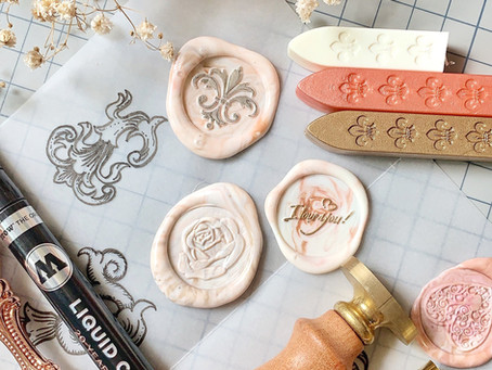 How to Make a Marbled Wax Seal