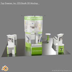 Top Greener Inc. CES Booth 3D Mockup