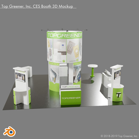 Top Greener Inc. CES Booth 3D Mockup