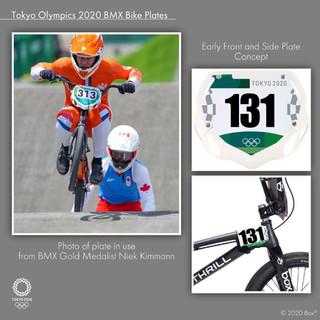 Tokyo Olympics 2020 BMX Bike Plate