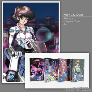 Neon City Cruise Alternate Cassette Art