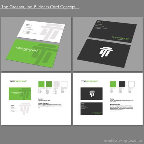 Top Greener Inc. Business Card