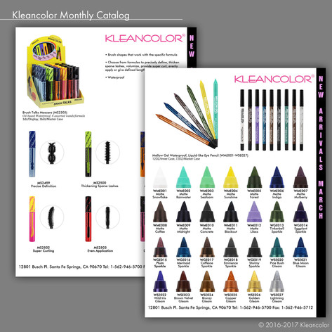 Kleancolor Monthly Catalog