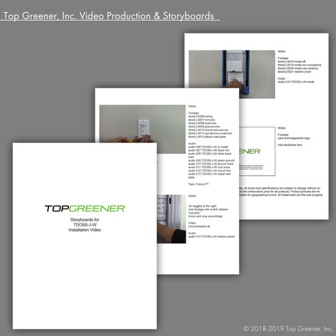 Top Greener Inc. Video Production & Storyboards