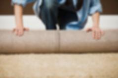 Carpet being layed