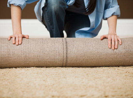 Yuck Carpet! Yay Tile!