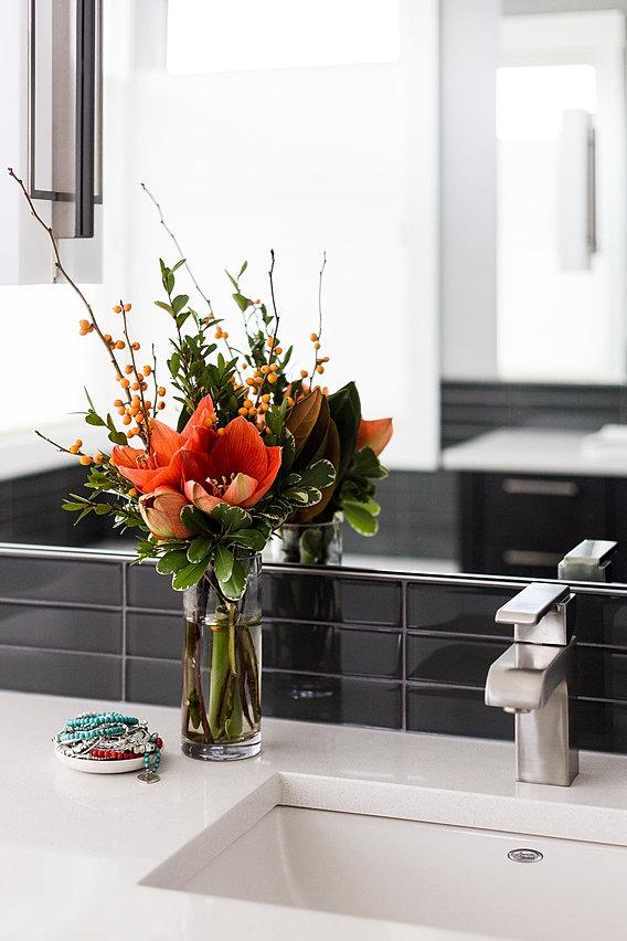 Calgary Modern Interior Design Master Bathroom Sink