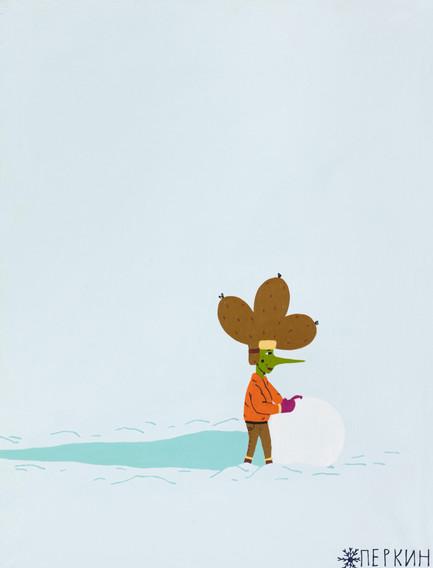 Брокколя в снегах