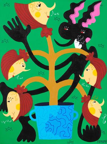 Levitations of Nightman around the apple tree of Newton