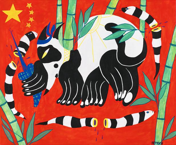 Panda cat or panda cat bonehead is alive
