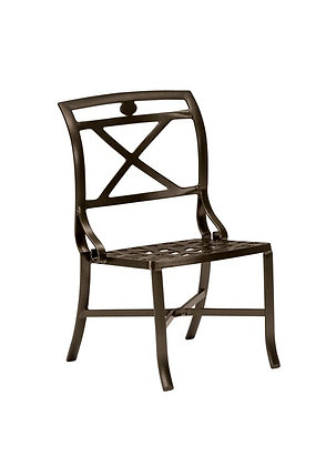 Palladian Cast Aluminum Side Chair x-back