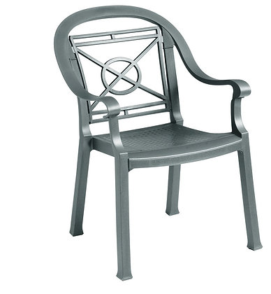Victoria Classic Dining Armchair - Charcoal