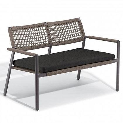 Eiland Loveseat Chair - Mocha/Carbon