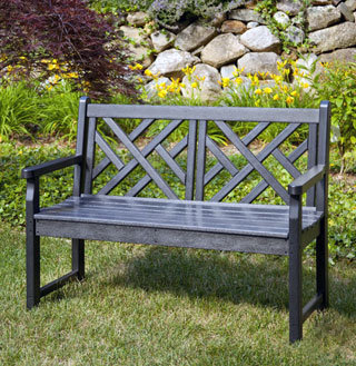 Chippendale Recycled Plastic Bench