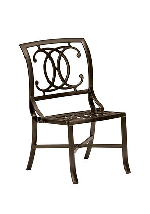 Palladian Cast Aluminum Side Chair double c-back